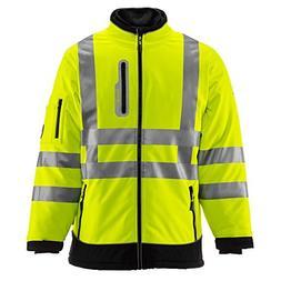 Refrigiwear Men's Hivis Extreme Softshell Jacket - ANSI Clas