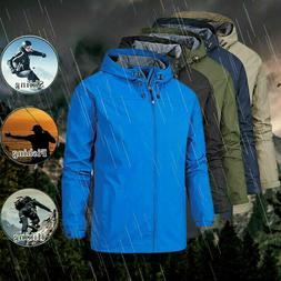 Men's Hooded Jacket Fishing Hiking Tactical Coat Warm Windbr