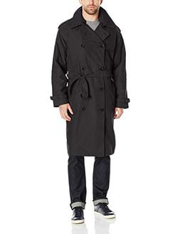 London Fog Men's Iconic Trench Coat, Black, 44 Long