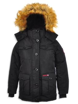 Canada Weather Gear Men's Insulated Parka Black Jacket Size: