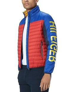 Tommy Hilfiger Men's Jackets Red Size XL Colorblocked Insula