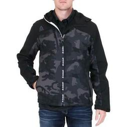 Reebok Mens Black Winter Softshell Soft Shell Jacket Outerwe