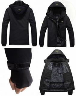 Wantdo Men's Mountain Waterproof Ski Jacket Windproof Rain