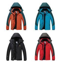 Men's Mountain Waterproof Ski Jacket Windproof Warm Winter C