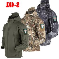 Men's Outdoor Windproof Jacket Tactical Coat Winter Soft She
