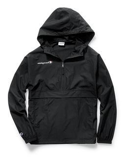 Champion Men's Packable Half-Zip Hooded Water-Resistant Jack
