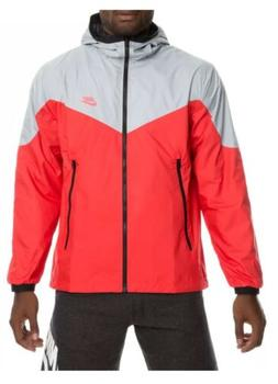 Nike Men's Packable Windrunner Full Zip Jacket Grey/Red/Blac