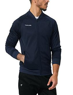 Baleaf Men's Performance Fleece Lined Warm-up Track Jacket N