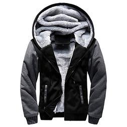 haoricu Men's Pullover Winter Fleece Hoodie Jackets Full Zip
