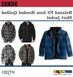 Dickies Men's Relaxed Fit Hooded Quilted Flannel Shirt Jacke