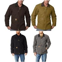 Carhartt Men's Ridge Coat Sherpa Lined Zip Sandstone Jacket