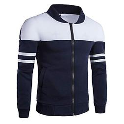 haoricu Men's Shirt Jacket Autumn Winter Zipper Sportswear P