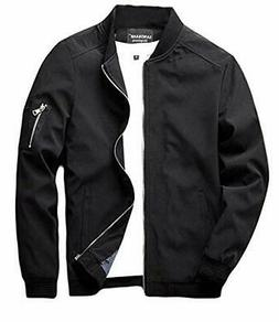 Men's Slim Fit Lightweight Softshell Flight Bomber Jacket Co