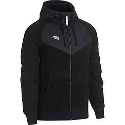 NIKE Men's Sportswear Full Zip Hoodie Black/White Size Mediu