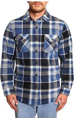 Freedom Foundry Men's Super Plush Sherpa Fleece Flannel Shir