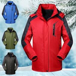 Men's Survival Waterproof Windproof Outdoor Hooded Ski Coat