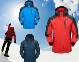 Men's Survival Waterproof Windproof Outdoor Hooded Ski Coat