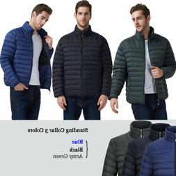 Men's Ultra-Light Puffer Down Jackets Packable Hooded Collar