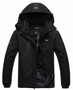 Wantdo Men's Waterproof Windproof Hooded Jacket SIZE XL