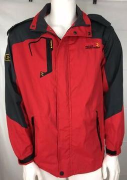 Wantdo Men's Waterproof Windproof Hooded Mountain Jacket Lar