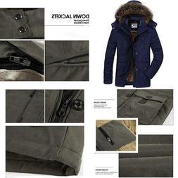 Prijouhe Men'S Winter Coats Down Jackets Outerwear Long Cott