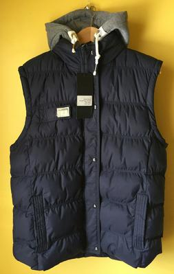 Wantdo Men's Winter Puffer Vest Removable Hooded Quilted Sle