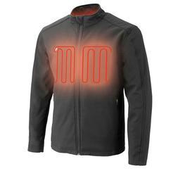 Men's Zipper Front Heated Soft Shell Jacket w/ Front & Back