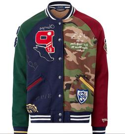 $348 Polo Ralph Lauren Tigers Military Camo Patchwork Letter