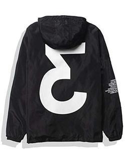 Baguet Men Waterproof Letter Print Jacket Hip-Pop Long Sleev