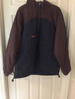 Men Adidas Winter Jacket With Hoodie, Blue/brown Size XL