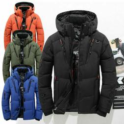 Men Winter Warm Duck Down Jacket Ski Thicken Snow Thick Hood