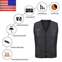 Men Women Heating Vest Electric USB Heated Warm Coat Jacket