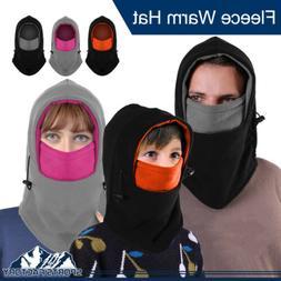 Men Women Kid Fleece Balaclava Hat Double Layer Neck Face Ma