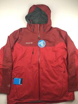 Columbia Mens 2XL Whirlibird 3 Point Interchange Red Omni Te