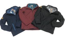 Timberland Mens 3 in 1 Jacket With Fleece inner Jacket Navy