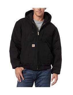 Carhartt Mens Big & Tall QFL Duck Active Jacket Black 4X Tal