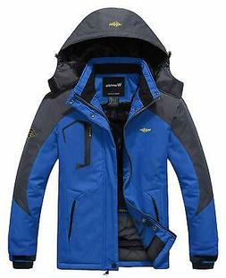 WANTDO Mens Black Blue Size 3XL Mountain Waterproof Ski Rain