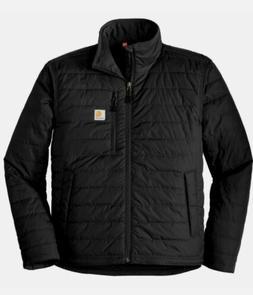 Carhartt Mens Black Gilliam Jacket Insulated Puffer Size Lg.