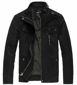 Wantdo Mens Black Size XL Full Zip Cotton Multi Pocket Detai