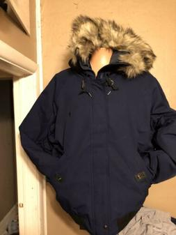 Polo Ralph Lauren Mens Blue Down Puffer Hooded Bomber Jacket