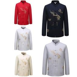 Mens Cotton Chinese Traditional Style Shirt Men's Kung-Fu Ta