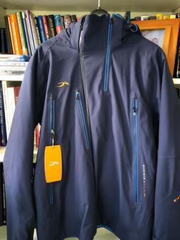 Kjus Mens Detour Ski Jacket, Navy Blue, 52 L, NWT $1299.99