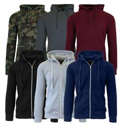 Mens Fleece Hoodie Jacket Sweater Layering Zip Up & Pullover