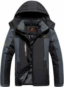 Mens Fleece Jacket Winter Warm Ski Jackets Windproof Coat wi
