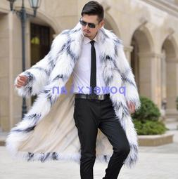 8a160cfa0add1 Mens Fur Trench Coats With Hoodies Long HOT Winter Jackets O