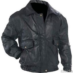 Mens Genuine Leather Jacket Sizes S L XL  3X 4X 5X