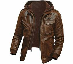 MENS GENUINE LEATHER JACKET SLIM FIT REAL CAFE RACER BIKER N