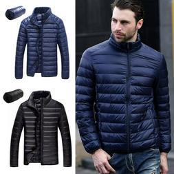 Mens Goose Duck Down Jacket Packable Lightweight Puffer Coat