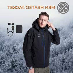ORORO Mens Heated Jacket Winter Coats With Battery Winter Ou