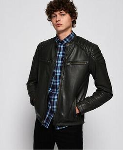 Superdry Mens Hero Leather Jacket
